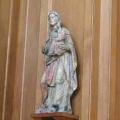 Sorry for the blurriness - St. Ann holding the Virgin Mary holding the Christ Child