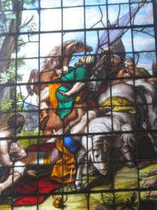 Window depicting the conversion of St. Paul