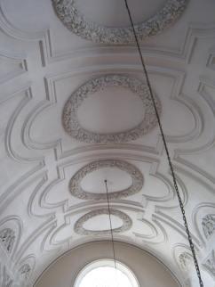 Restored plasterwork on the ceiling