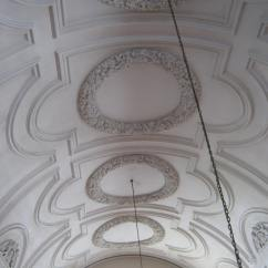 Restored plasterwork on the ceiling